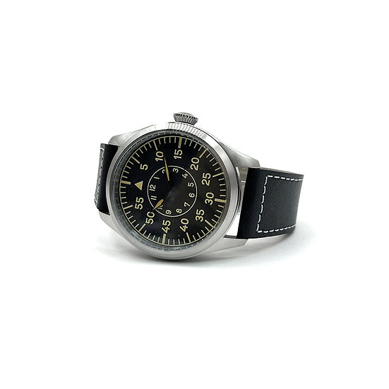 Classic 46mm Limited Edition XL Luftwaffe Pattern Military Aviators Watch (Retro