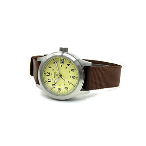 MWC 100m Water Resistant Watch - Limited Edition with Cream Dial & 24 Jewel