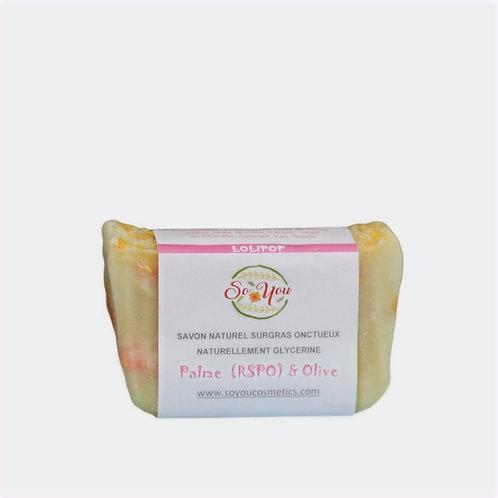 Savon olive, coco, ricin, palme RSPO - Senteur Lolipop - Edition Limitée