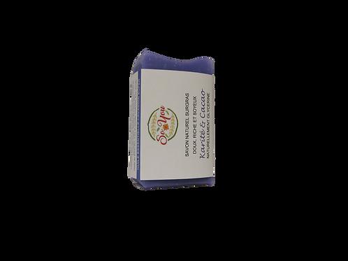 Savon aux beurres de karité et cacao bio - Senteur Lavandin