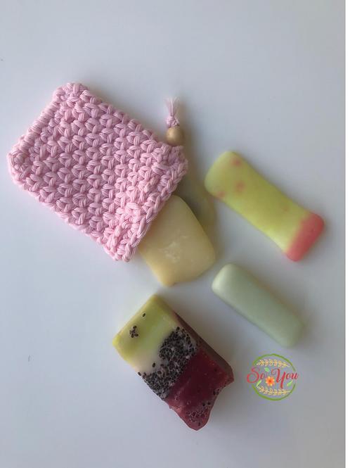 Pochettes anti-gaspi pour savon 100% Coton