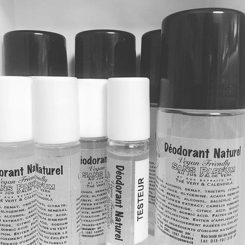Déodorant naturel sans sels d'aluminium ni bicarbonate