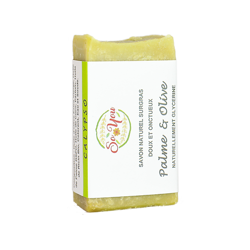 Savon olive, coco, palme RSPO, ricin  - Senteur Calypso/Pomme d'Amour