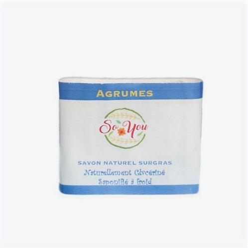 Savon olive, coco, ricin, palme RSPO - Senteur Agrumes