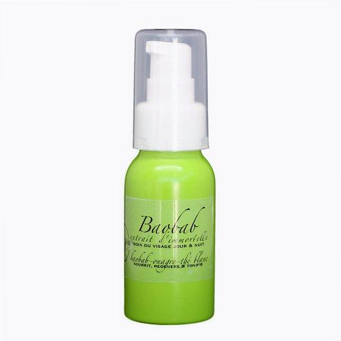 Crème visage peaux sensibles et sèches jour et nuit - Baobab Onagre Thé Blanc