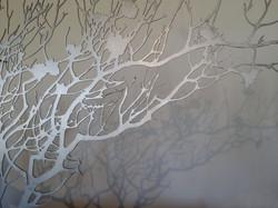 Open protea tree detail