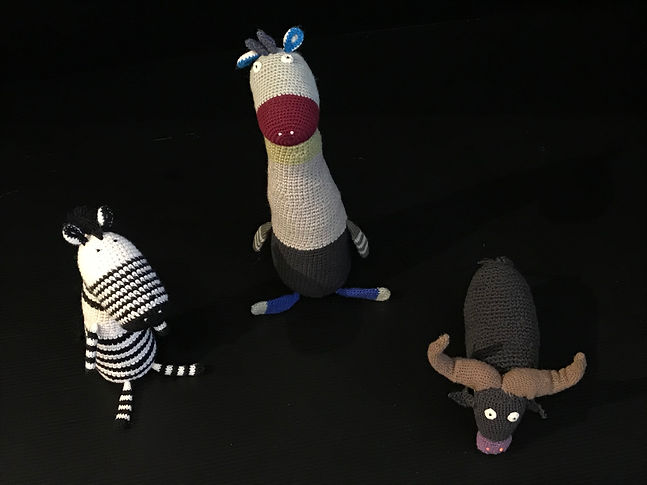 Lot 2, Contemporary Crochet Animals