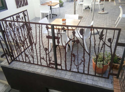 Courtyard cafe ballustrade