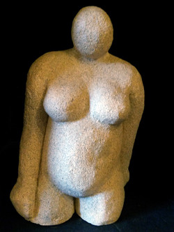Clay Figure with stone by Effie