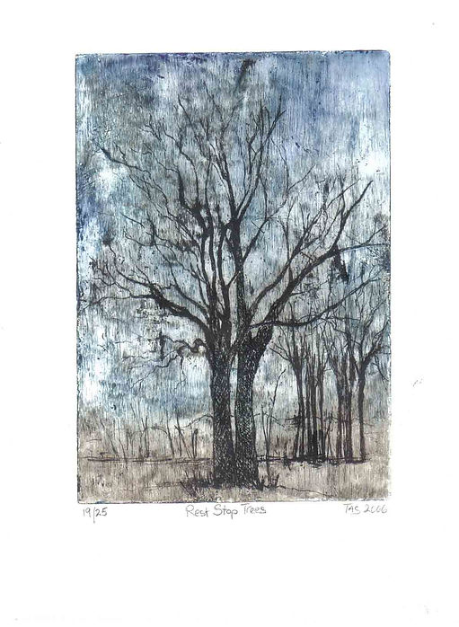 Rest Stop Trees by Margie Taswell-Yates.