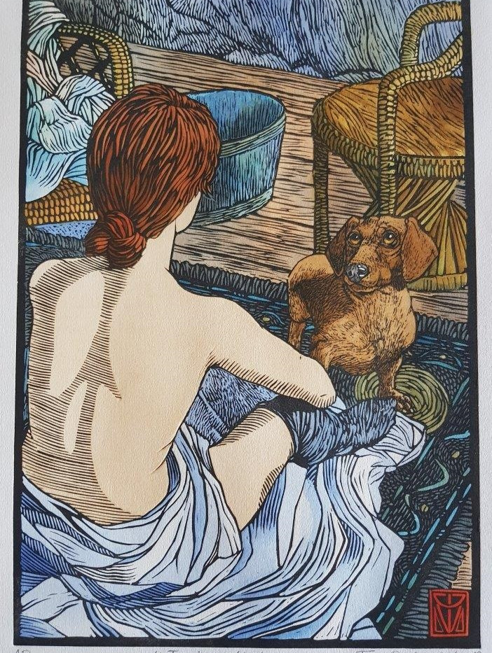 Toulouse-Lautrec's dog by Theo Paul Vorster