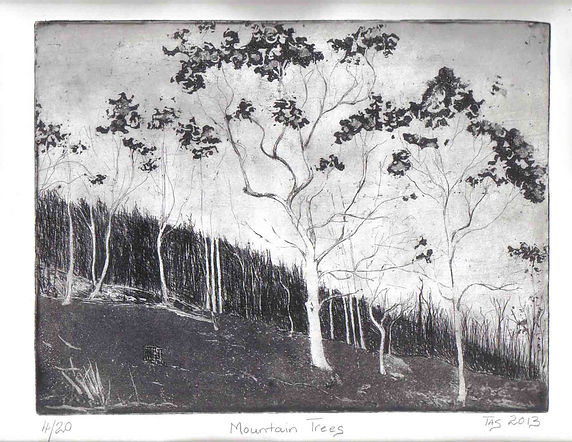 'Mountain Trees' by Margie Taswell-Yates