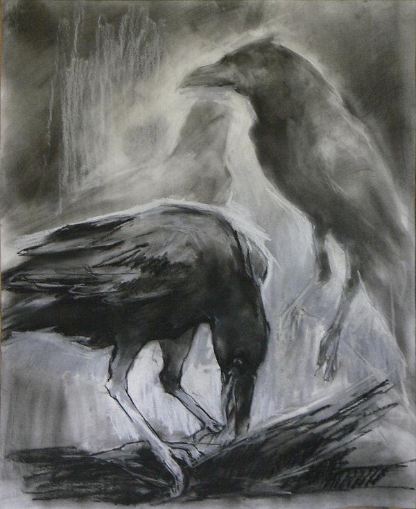 Frans Mulder_Crow Rhapsody No2_Pastel on