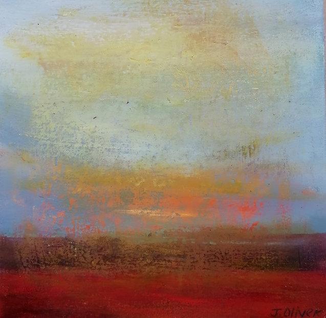 Jane Oliver  Winter sun.  Oil on canvas  30 x 30 x 5 cms   2021  (1).jpg