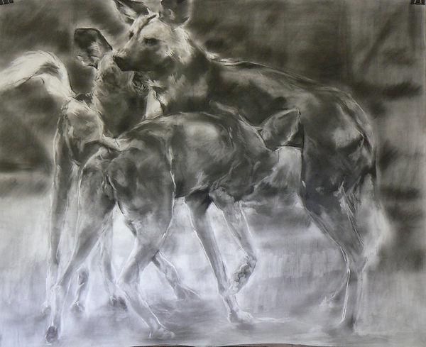 Frans Mulder _Den 06_Pastel and Ink on F