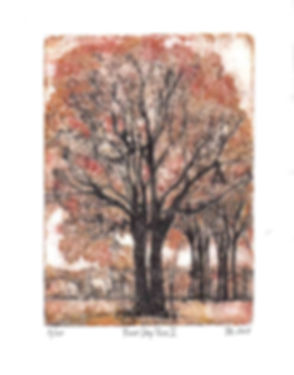 'Rest Stop Trees II'  by Margie Taswell-