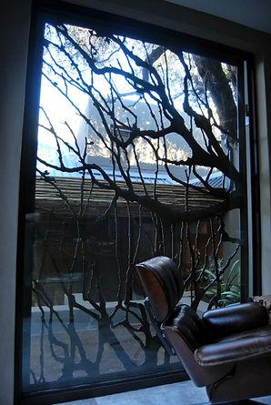 Trees Merging Burglar Bars