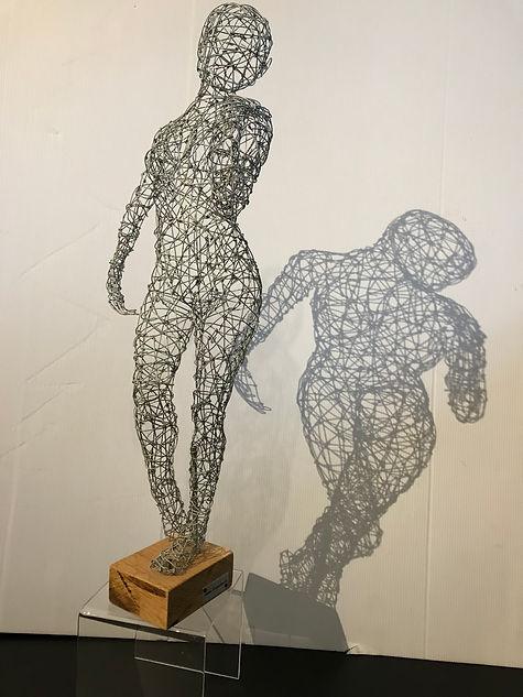 Lot 24: Wire figure by Simone Wojciechowski