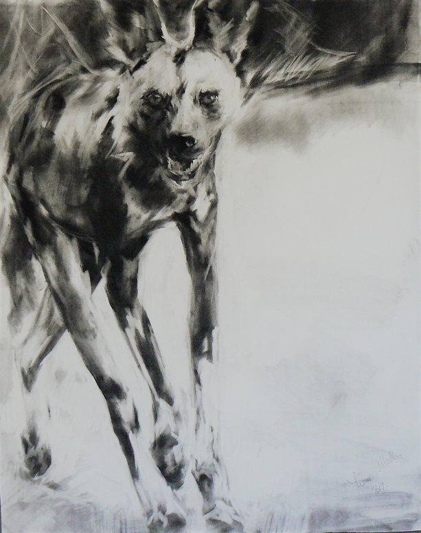 Frans Mulder_Wild Dog On The Move No2_Pa