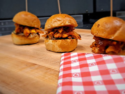 Pineapple Barbecue Chicken Sliders
