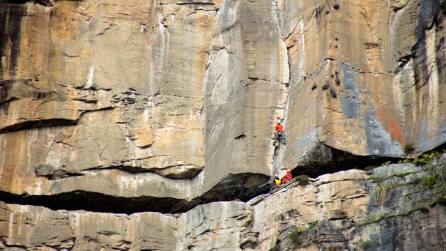 Aerial image Climbing in Peru