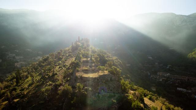 Aerial image Deià Majorca