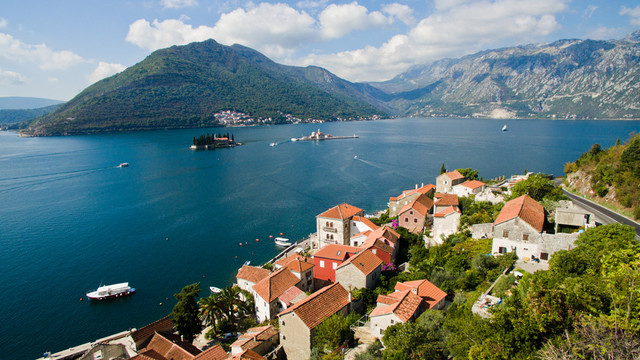 Aerial image Montenegro Kotor Bay