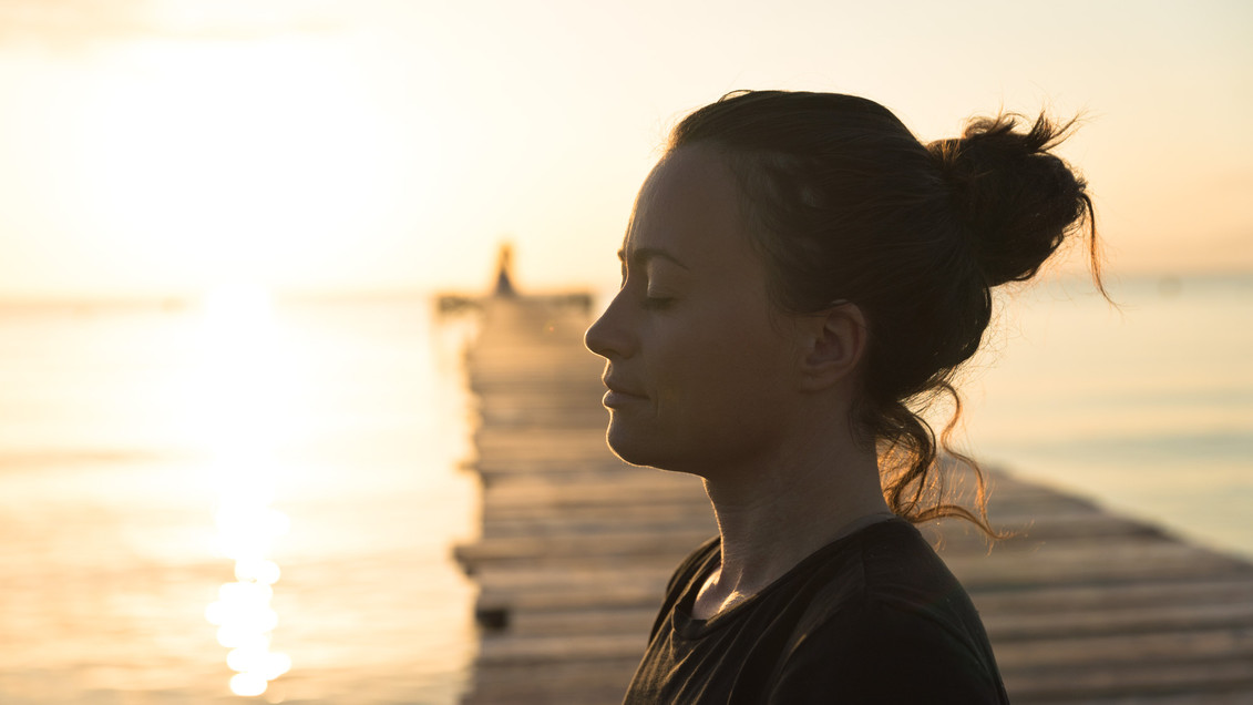 Yoga teacher Maria