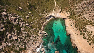 Aerial images of Cala Figuera, Mallorca