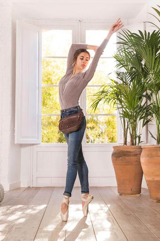 Un bailarina para la campaña de moda