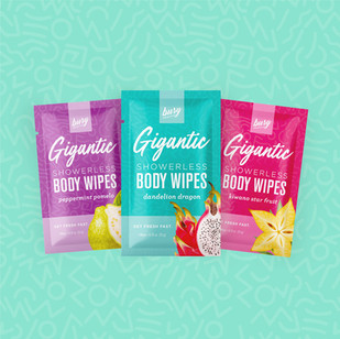 Busy Beauty Body Wipes Packaging