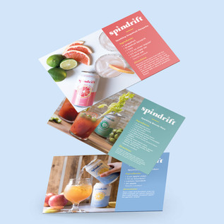 Spindrift Recipe Cards