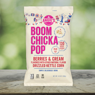 Boomchickapop Summer Berries & Cream Packaging