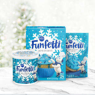 Pillsbury Funfetti Holiday Packaging Design