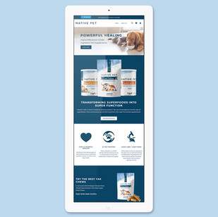 Native Pet Website Refresh