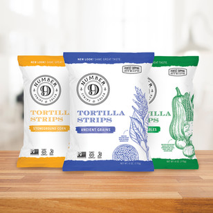 Number 9 Tortilla Chips Logo & Packaging Design