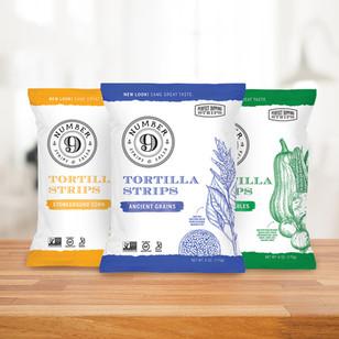 Number 9 Tortilla Chips Logo & Packaging Design