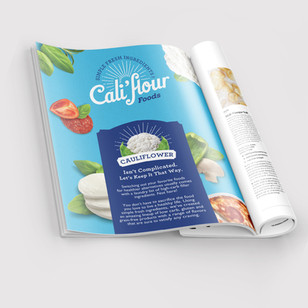 Cali'Flour Foods Full Page Ad Design