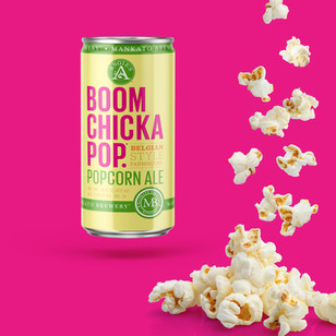 Boomchickapop & Mankato Brewery Popcorn Ale Packaging