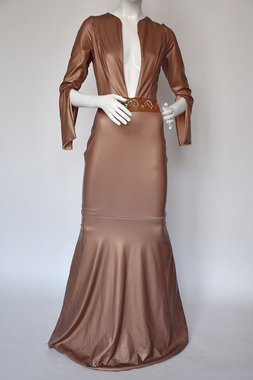 Dell Scott- Mocha Pearl Gown