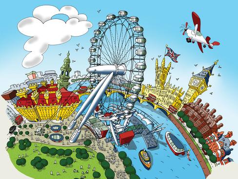 The London Eye (Colourful)