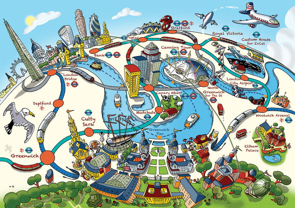 Visit Greenwich, Transport Links Map