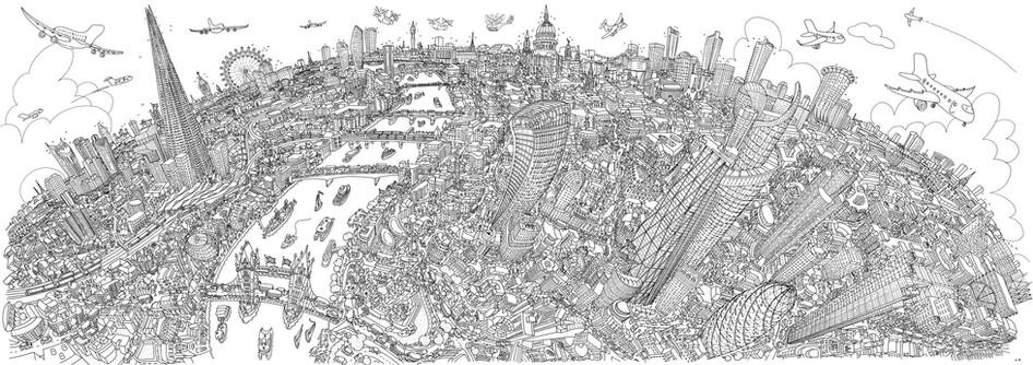 London Looking West (Line)