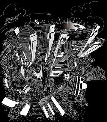 Canary Wharf (Black)