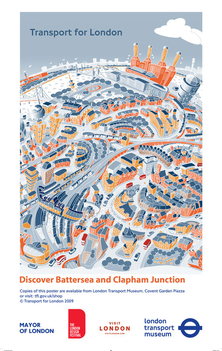 Discover Battersea TfL Poster