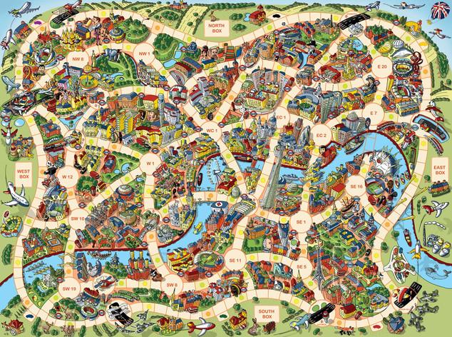 London Game Board Design
