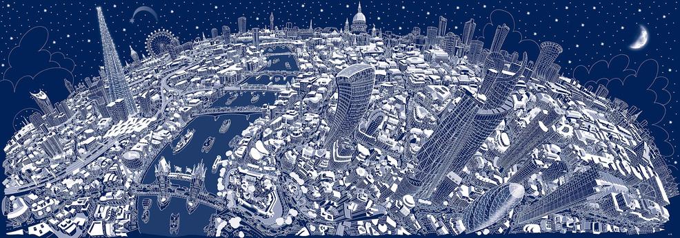 London Looking West (Winter)