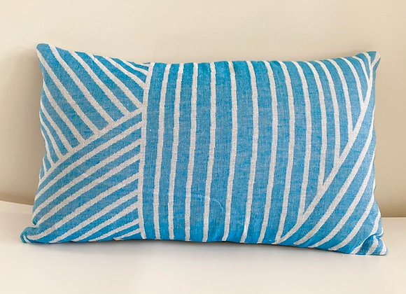 Turquoise patterned cushion cover 30x50cm