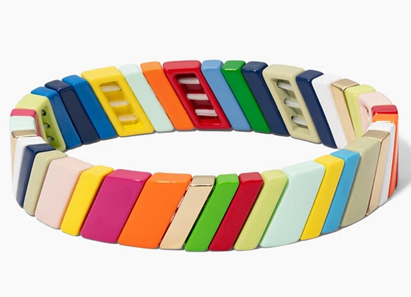 Multi colour enamel bracelet