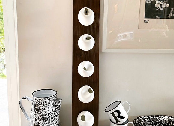 Spin White Biscuit Wall-hanging Five Vases